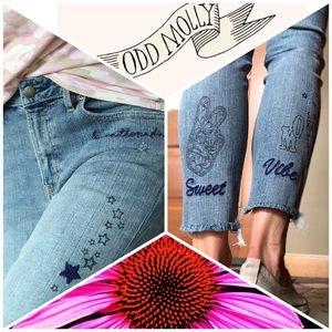 🍃💕NWT Odd Molly Sweet Vibe Groupie Skinny Jeans